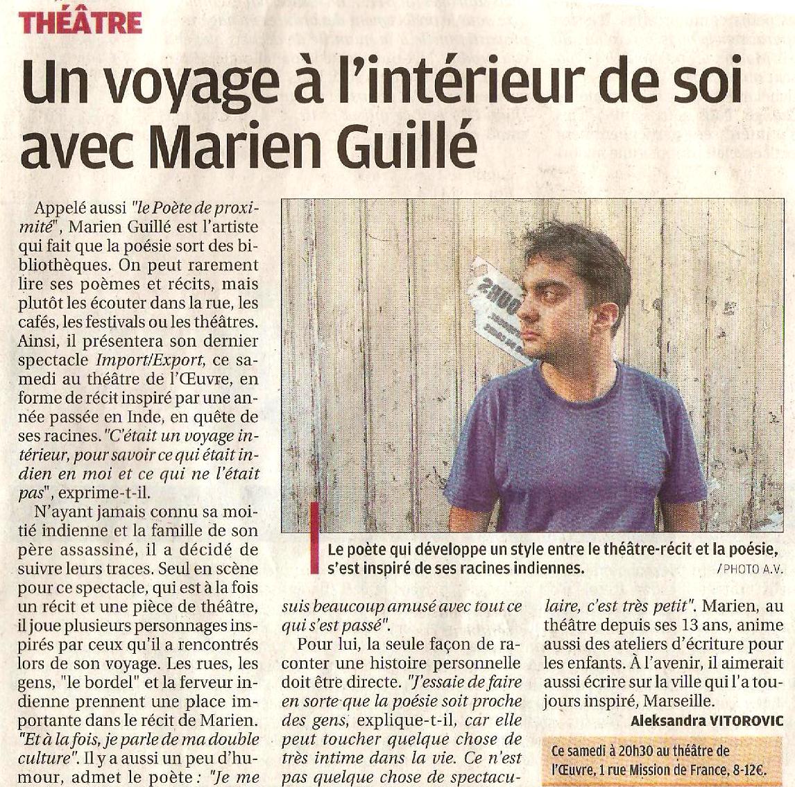 Un voyage à l'intérieur de soi avec Marien Guillé